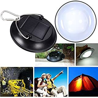 ADAALEN Portable LED Solar Power Bulb Hanging Camping Lantern Waterproof Outdoor Lamp