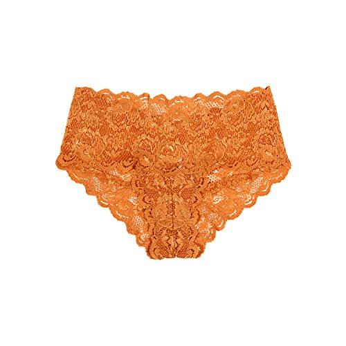 Cosabella Women's Never Say Never Hottie Hotpants Orange in Size Small/Medium -