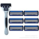 Imported High Quality Manual Stainless Steel 6-Layer Shaver Man Manual Vintage Shaving Knife 1 Turret 6 Cutter Head