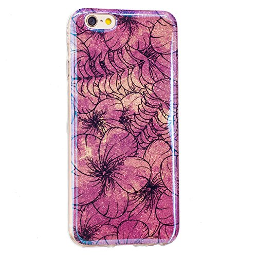 EKINHUI Case Cover Für Apple IPhone 6 & 6s Plus Blumenkasten, Ultra Thin Light Gewicht Shockproof Luxus Blaues Licht TPU Silikon Gel Schutzhülle ( Color : F ) C