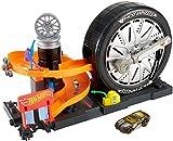 Hot Wheels Tienda de neumáticos supergiros, pista de coches de...
