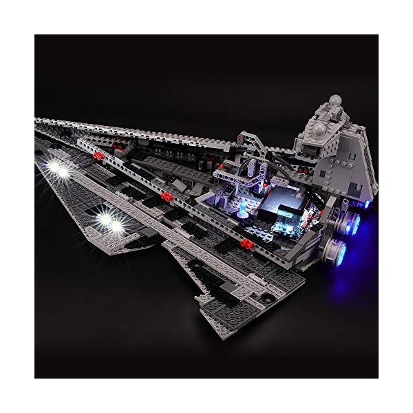 BRIKSMAX Kit di Illuminazione a LED per Lego Star Wars Imperial Star Destroyer, Compatibile con Il Modello Lego 75055… 5 spesavip