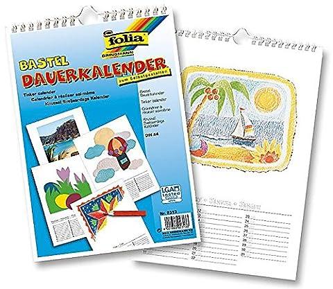 Calendrier Personnalise - Calendrier vierge à dessiner, décorer, peindre, bricoler