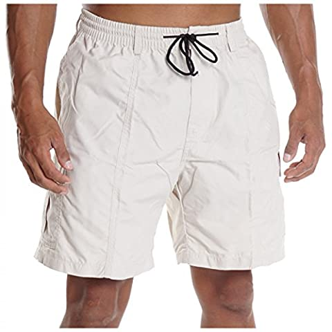 Herren Cargo Bermuda Hose kurz Shorts Sommer Gürtel Pasteur Capri Casual H2079, Größe:M;Farbe:Beige