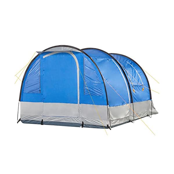 CampFeuer - Tunnel Tent, 4 Person, 410x250x190 cm, blue/grey 2