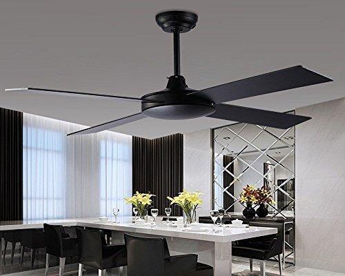 MOMO Personalisierte dekorative Beleuchtung Schöne und Retro Deckenventilator Lampe, 52 Zoll dekorative Deckenventilator, 5 Klinge, 3 Lampenfassung,Fernbedienung Kleine Klinge Deckenventilator