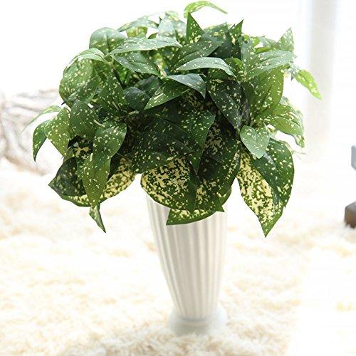 BKPH 5Pcs Kunstseide immergrüne Pflanzen Bouquet perfekte Hochzeit Party nach Hause Dekoration Fertigkeit DIY Garten Blumendekoration, Green