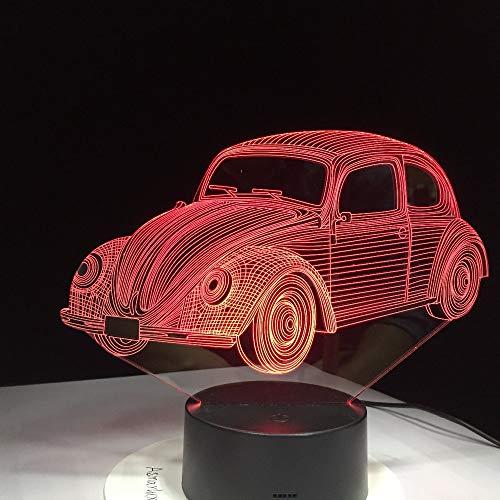 (Mozhate 7 Farben visuelle Auto 1970 modellierung Lampe 3D led nachtlicht Kinder Geschenke Touch Schalter USB Tabelle Lampe Schlaf Beleuchtung,7 Farben ändern)