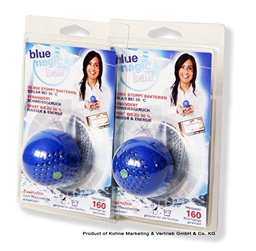 Preisvergleich Produktbild bluemagicball- 2-er Pack Stoppt Schweißgeruch und Bakterien in der Wäsche!