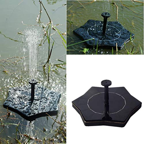 FERZA Home Pool Wasserpumpe, Solar Power Bird Bath Brunnen Wasser schwimmenden kleinen Teich Gartenterrasse Dekoration (schwarz) (Color : Black) Solar Power Gadget