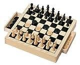 Grandi Giochi GG95001 - Dama e Scacchi in Legno