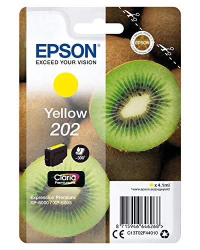 Epson 202 Serie Kiwi, Cartuccia originale getto d'inchiostro Claria Premium, Formato Standard, Giallo