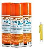 3 x 200 ml Ardap FOGGER Ungeziefer Sprühautomat gegen Insekten + Zeckenzange