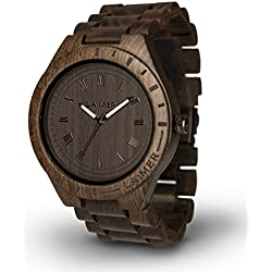 LAiMER Woodwatch BLACK EDITION| 100% sandalwood | natural product | South Tyrol | light as a feather | hypoallergenic | sustainable |