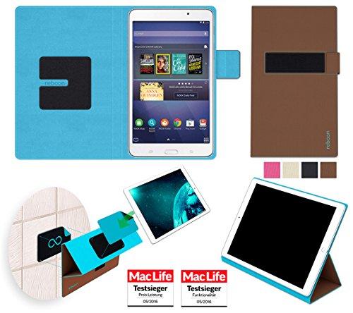 reboon Hülle für Samsung Galaxy Tab 4 Nook 7 Tasche Cover Case Bumper   in Braun   Testsieger (Galaxy Nook 4 Tab 7 Samsung)