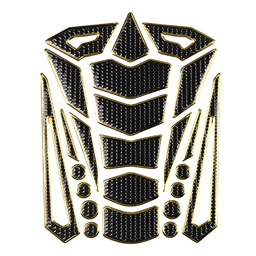 Universal Motorrad Pad Aufkleber Protector Traction Pad(silberner Rand) - Tank Protektor Honda
