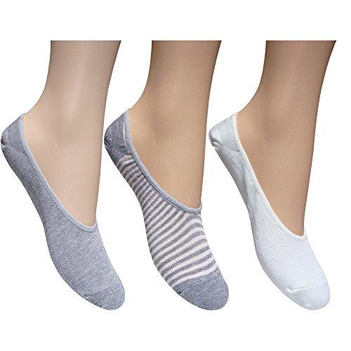 TeddyT's Damen Füßlinge Grey & White Medium