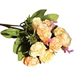 Wandaufkleber Künstliche PE Gefälschte Blumen Rose Blumen Hochzeit Bouquet Braut Hortensien Decor hausgarten küche zubehör dekorative aufkleber wandbilder