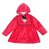 QFF Feste Farbe Prinzessin Puppe Mode Lovely Baby Student Kind Regenmantel Mädchen Poncho (Farbe : Rose rot, größe : L)