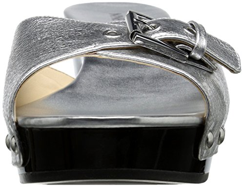 Nine West Forchen Synthetic Slide Sandale Silver