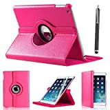 Schutzhülle für Apple iPad Mini 1, iPad Mini 3, iPad Mini 2, Polyurethan-Kunstleder, um 360Grad drehbar, Ständerfunktion, Pink
