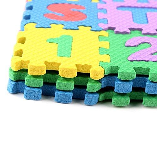 36 St. weich EVA-Schaum Sicherheit Spielmatte lernen Buchstaben Zahlen Puzzlespiel für Baby Kinder UK von Trimming Shop