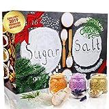 C&T Sugar&Spice Gewürze Adventskalender 2019 - 24 edle Gewürzssalze plus 6 Gewürzzucker GRATIS - Weihnachtskalender Zucker Salz Geschenkidee mit Natursalzen & Naturpfeffern für Erwachsene