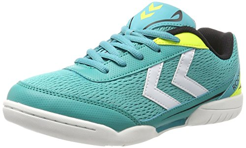 Hummel Unisex-Kinder Root Jr Lace Trophy Multisport Indoor Schuhe, Grün (Ceramic), 34 EU
