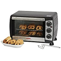 Cooks Professional 18L Black Mini Oven & Grill 1200W with Baking Tray & Wire Rack 2 Year Warranty