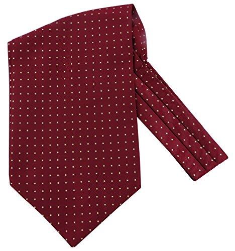 Küssen U Herren Blumenkleid Ascot Seidenschal Herren Paisley Jacquard Woven Anzug Zubehör (4)