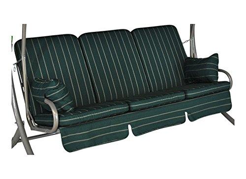 Angerer 1020/026 Exklusiv-Schaukelauflage, 3-Sitzer Design Faro, grün