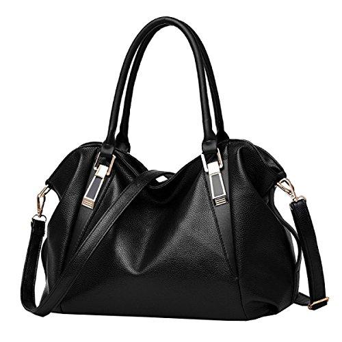 LAIDAYE Frau Handtasche Mode Handtasche Schultertasche Messenger Bag Big Bag Black
