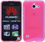 ENERGMiX Huawei Ascend Y550 // Silikon Hülle S-Line Tasche Case Zubehör Schale in Pink