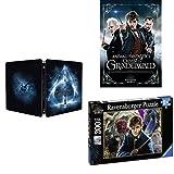 Locandina Animali Fantastici - I Crimini di Grindelwald: Steelbook Blu-Ray + Puzzle Ravensburger + Poster
