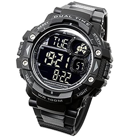 [Lad Wetter] Military Watch/Stoppuhr/Pacer Funktion Watch/Outdoor/100 m Wasserdicht Herren-Armbanduhr