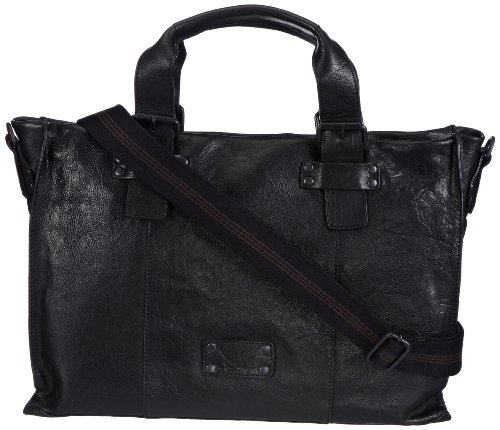Sansibar Sula B-148 SL 01, Damen Shopper 48x29x14 cm (B x H x T) Schwarz (Black)