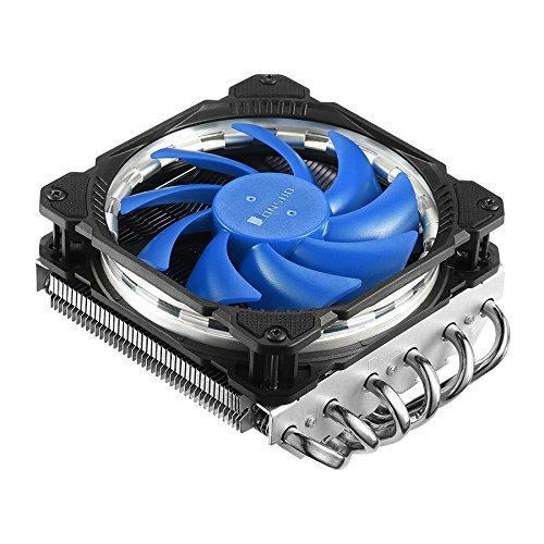Jonsbo HP-625 Blue, Low Profile HPTC CPU-Kühler f. Intel LGA775/1150/1151/1155/1156 & AMD AM2(+)/AM3(+)/FM1/FM2(+)/AM4, 6 x 6 mm Heatpipes, 120 mm LED Lüfter (600 - 1.600 U/min), 20,5 - 28,5 - Am3 Cpu-kühler Low-profile
