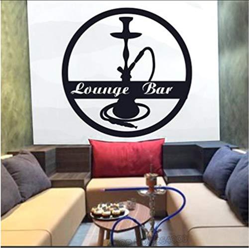 Zlxzlx Shisha Lounge Wand Sticke Relax Zimmer Arabischen Stil Wandtattoo Shisha Vinyl Aufkleber...