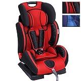 Infantastic Mitwachsender Kinderautositz (Farbwahl) Gruppe 1/2/3 (9-36 kg) (Rot)