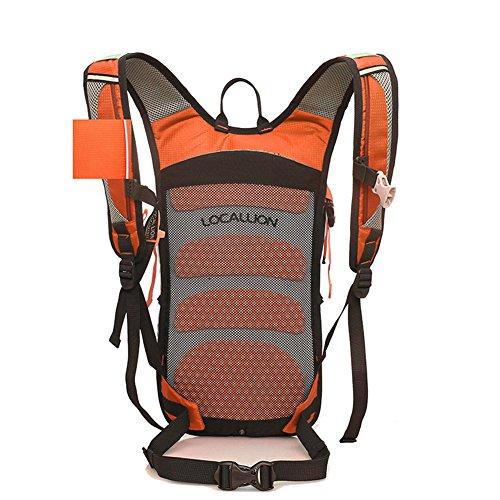 Cuckoo 18L Wasserdichte Hydratation Blase Pack Wandern Daypack Leichte Outdoor Sport Rucksack für Radfahren Radfahren Laufen Camping Orange