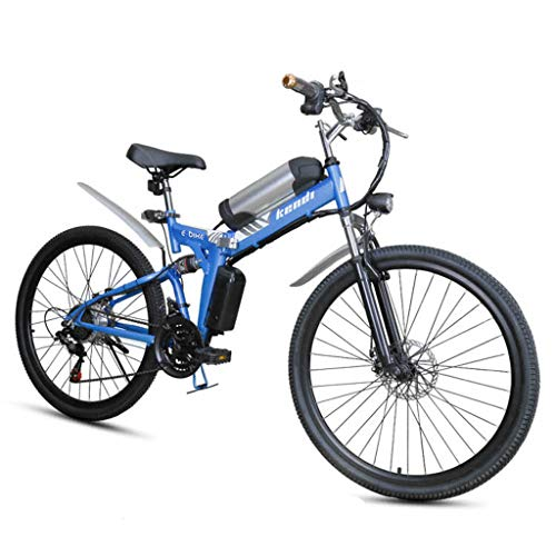 SZPDD Elektrofahrrad, faltbares elektrisches 26-Zoll-Mountainbike, 7-Gang-Schaltung, 3 Boost-Modi, 36V7.5Ah Lithiumbatterie,Blue,26inch