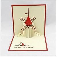 BC Worldwide Ltd handmade origami paper craft paper art 3D popup pop up card greeting card birthday card Dutch windmill mother