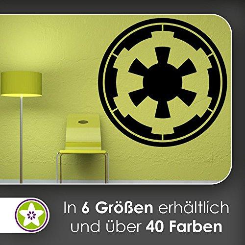 KIWISTAR Galaktisches Imperium Wappen Symbol Wandtattoo in 6 Größen - Wandaufkleber Wall Sticker (Symbole Galaktische)