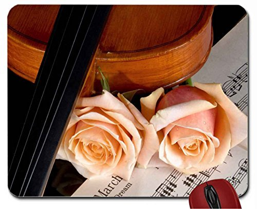 violin-and-roses-mouse-pad-computer-mousepad