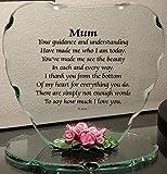 onlinestreet Glass Plaque Gift for - Mum