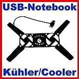 proPHONE® USB Notebook Kühler Universal/Lüfter - USB Notebook/Laptop Cooler Pad/ZUSAMMENFALTBAR praktisch Auch für unterwegs!