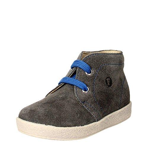 Falcotto 0012010304.01.9108 Chaussures À Lacets Garçon Suède Gris Gris
