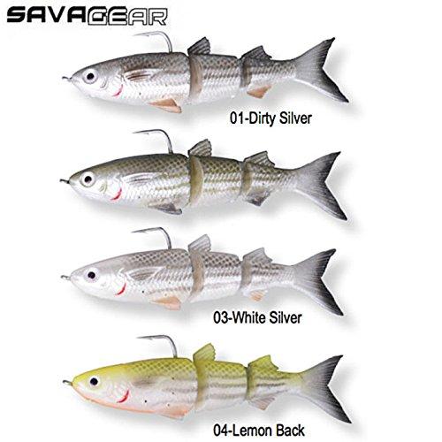 Savage Gear TPE 3D Meeräsche 02-Green Silver 29g SS