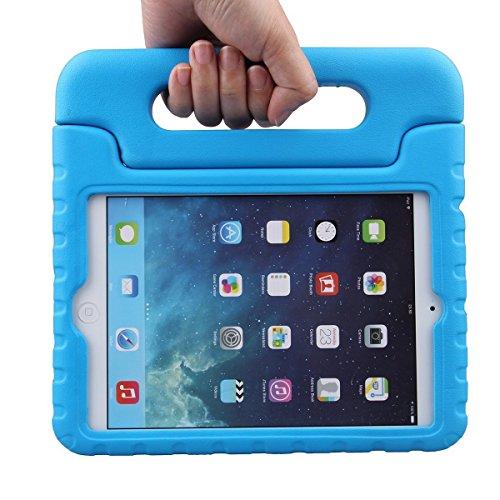 Preisvergleich Produktbild Kinder Hülle für iPad Mini 3 / 2 / 1, CAM-ULATA EVA Stoßfest Leichtgewicht Kinderfreundlich Griff Schutzhülle Standhülle Für iPad Mini 1 (2012), iPad Mini 2 (2013), iPad Mini 3 (2014), Blau