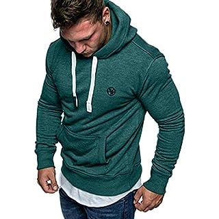 FRAUIT Männer Sweatshirt Langarm Herbst Winter Herren Kapuzenpullover | Sale | Casual Sweatshirt Hoodies Top Bluse Trainingsanzüge (M, Z-Armeegrün)